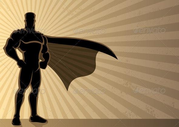 Superhero Background - Characters Vectors