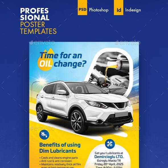 Car Maintenance Poster Templates