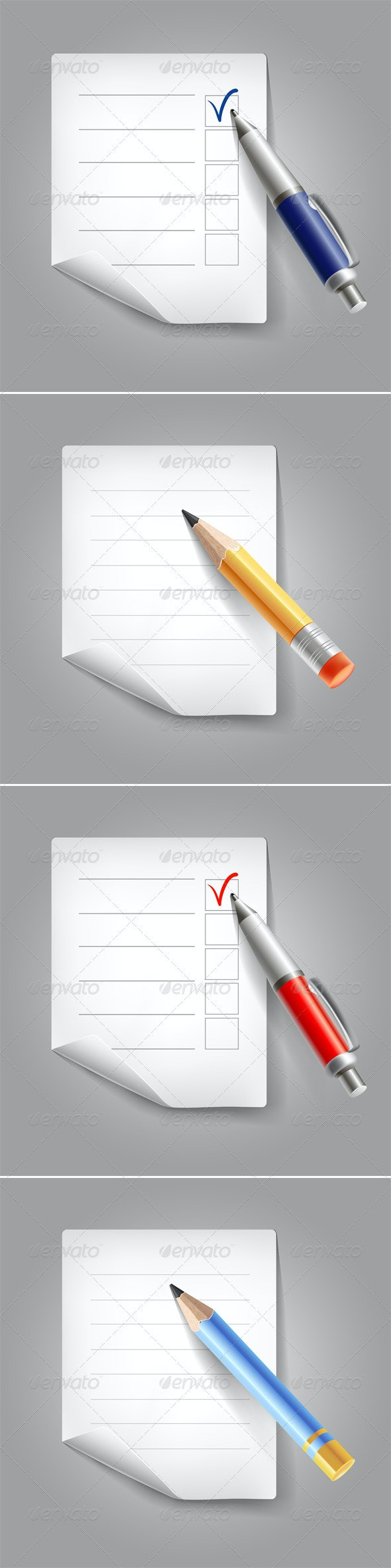 Backgrounds with pencil, pen and paper - Business Conceptual