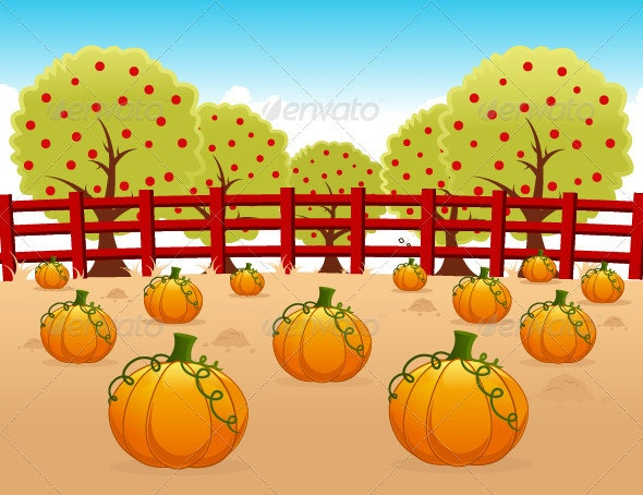 Pumpkin Field - Seasons/Holidays Conceptual