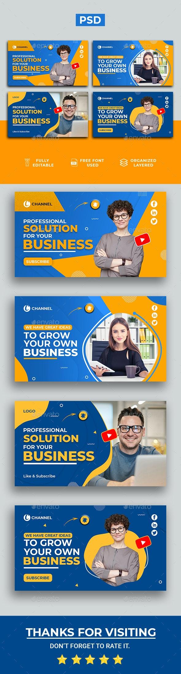 Business Youtube Thumbnail - YouTube Social Media