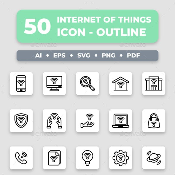 Internet of Things - Outline Collection Icon Set