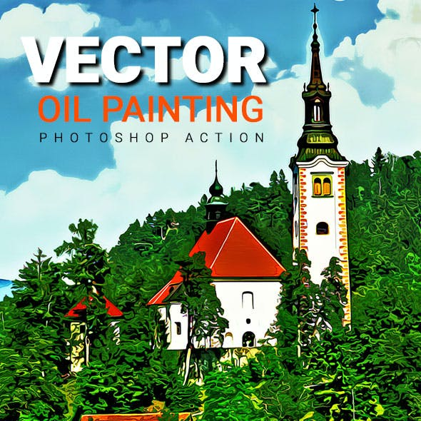 Vector Oil Painting Photoshop Action