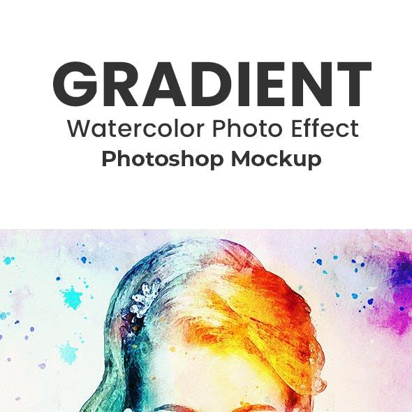 Gradients Watercolor Photo Effect Mockup