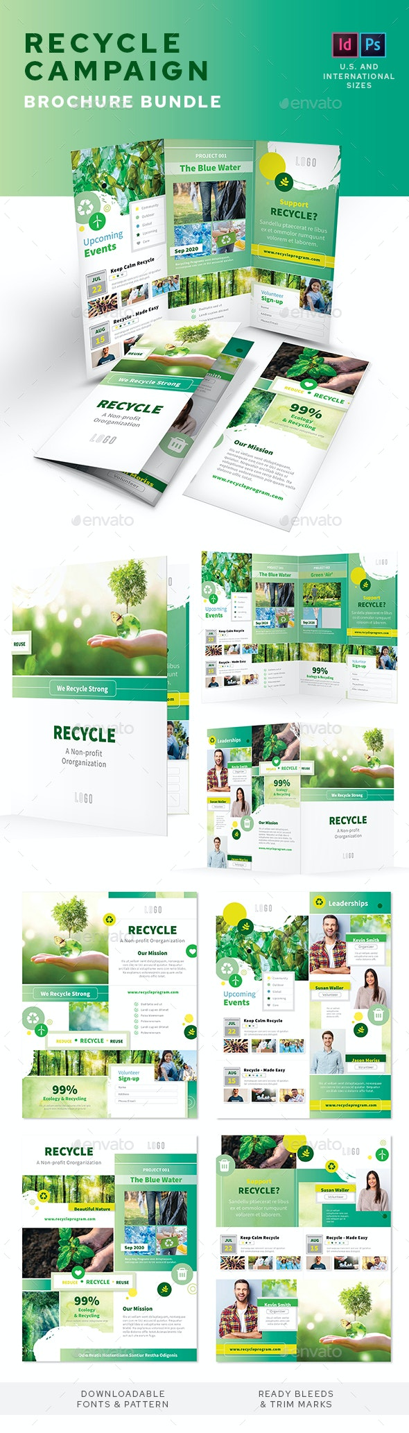 Recycling Campaign Print Bundle - Informational Brochures