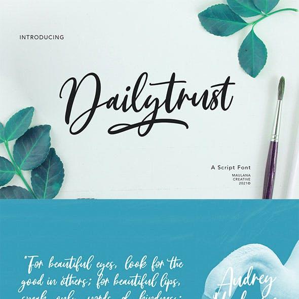 Dailytrust Script Font