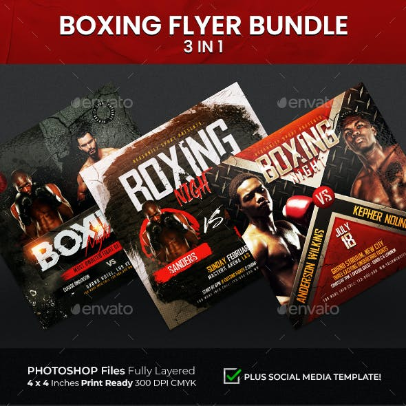 Boxing Flyer Bundle 3 n 1