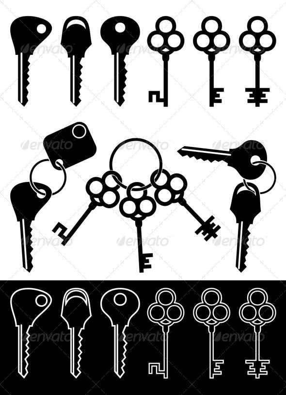 Set of keys - Objects Vectors