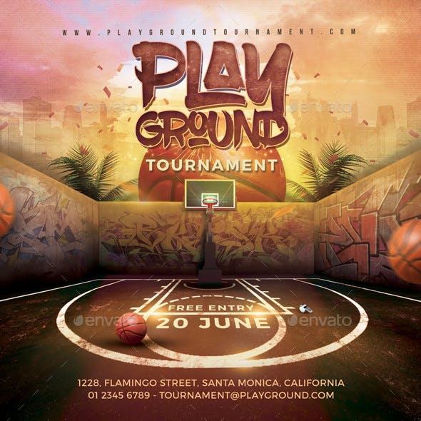 Basketball Playground Tournament Flyer