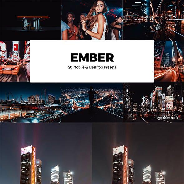 20 Ember Lightroom Presets & LUTs