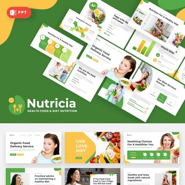 Nutricia - Health Food & Diet Nutrition Powerpoint Template