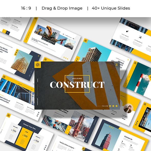 Construct Business Company Powerpoint Template