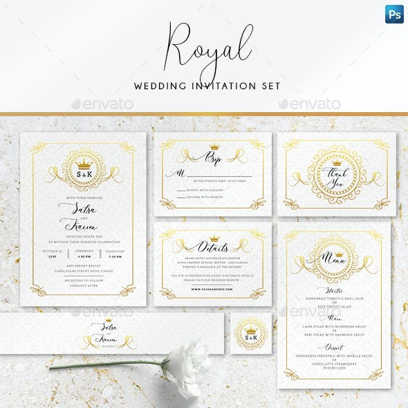 Royal Wedding Invitation Set
