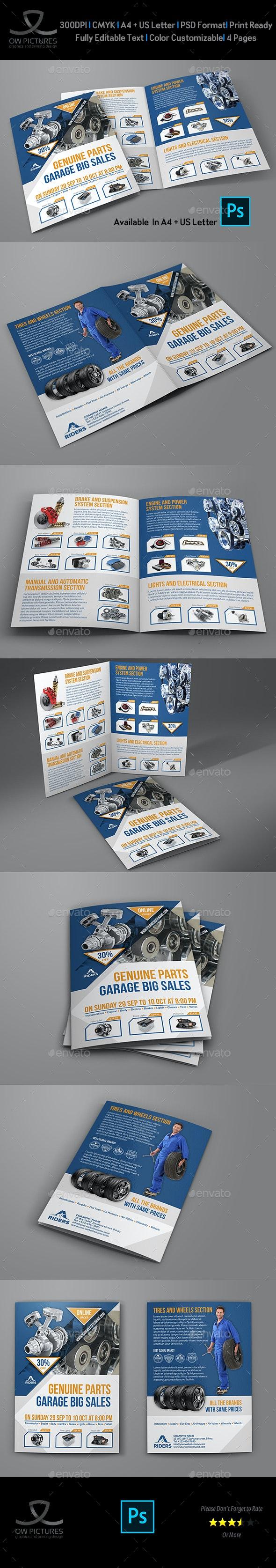 Auto Parts Catalog Bi-Fold Brochure Template Vol.4 - Brochures Print Templates