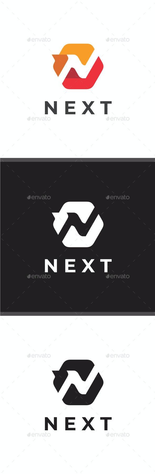 Next - Letter N Logo - Letters Logo Templates