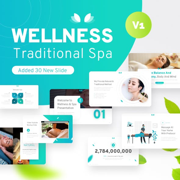 Wellness Spa & Beauty PowerPoint Template