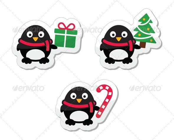 Xmas holidays vector icons collection    - Christmas Seasons/Holidays