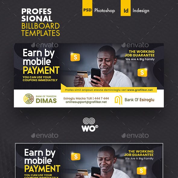 Mobile Payment Billboard Templates