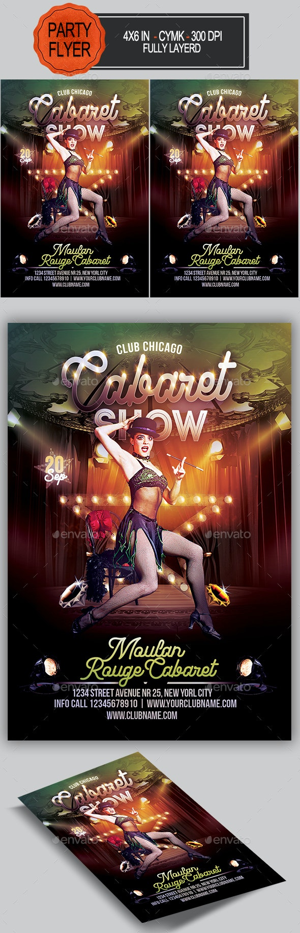 Cabaret Show Flyer - Clubs & Parties Events