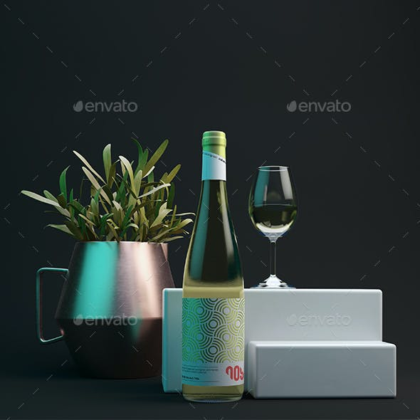 Wine bottle Mock-up 5