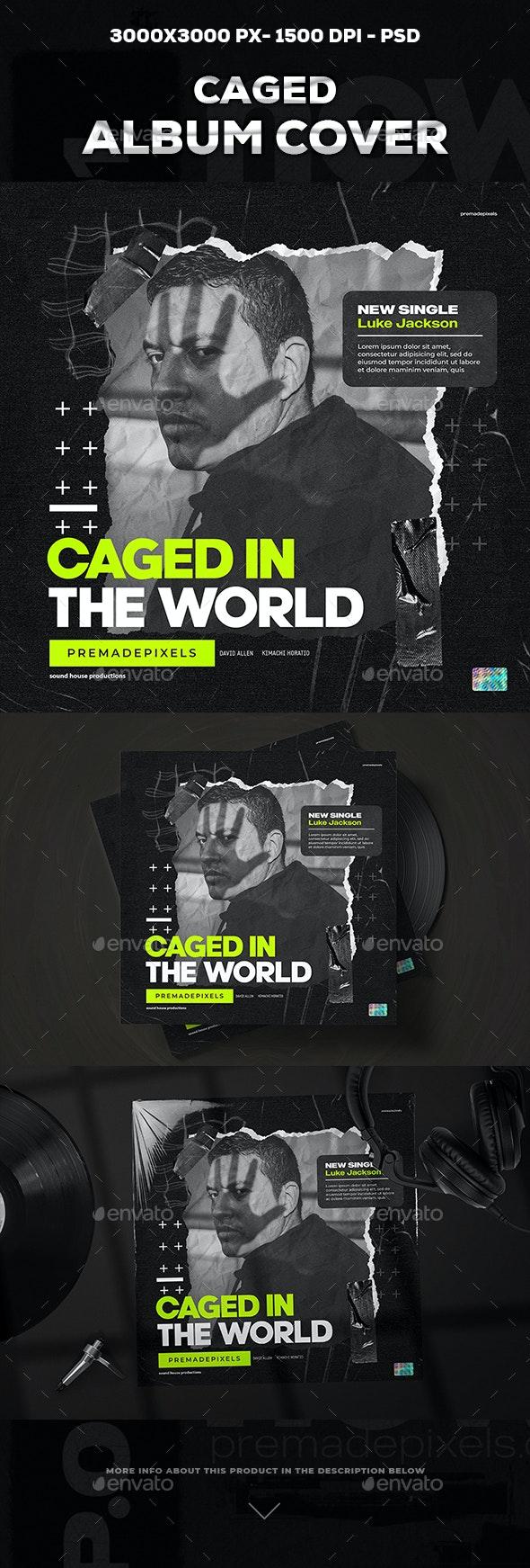 Caged Album Cover Art - Social Media Web Elements