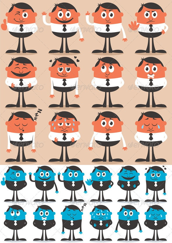 Character Emotions 2 - Characters Vectors