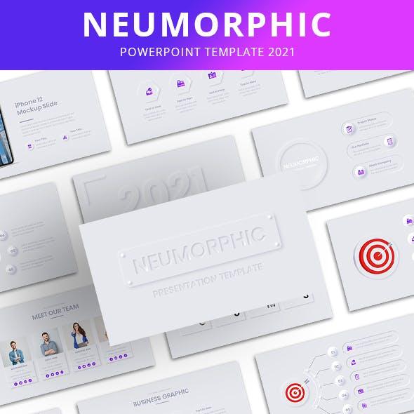 Neumorphic PowerPoint Template 2021