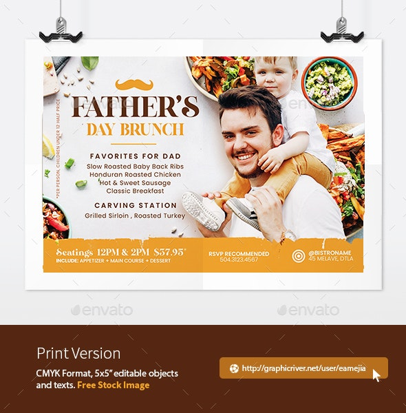 Fathers Day Brunch Flyer - Restaurant Flyers