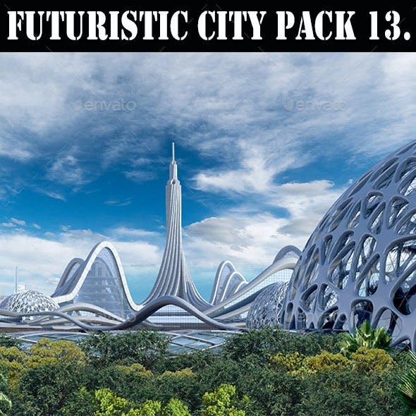 Futuristic City 13. Organic Architecture - Illustration Pack