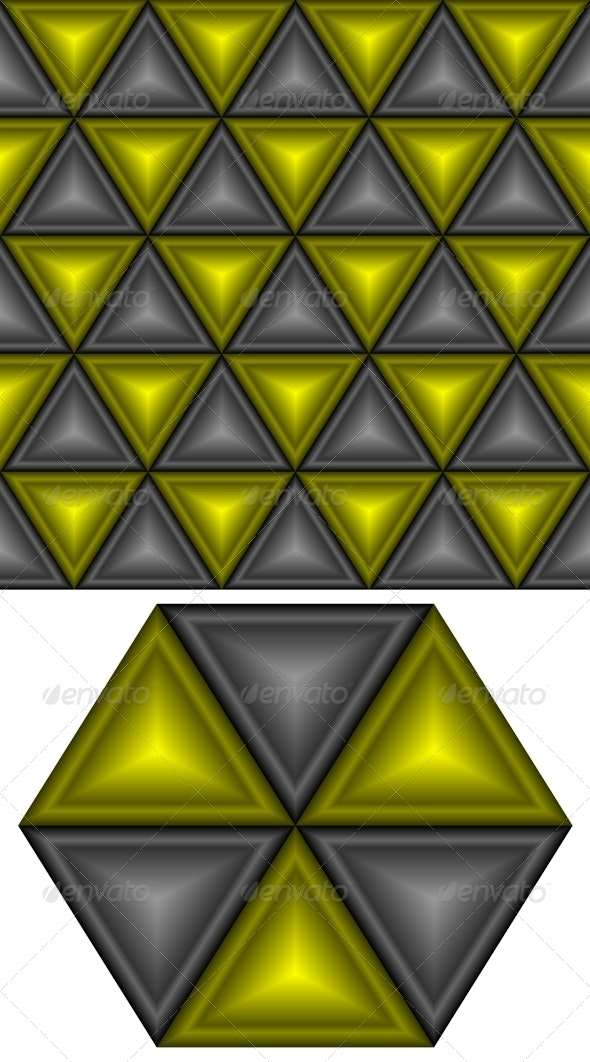 Black and yellow triangles. - Patterns Decorative