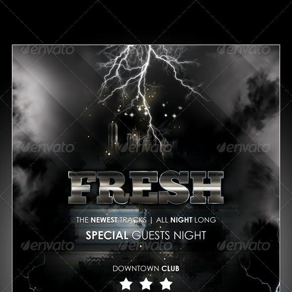 Lightning Music Nightclub Flyer Template