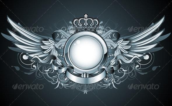 Heraldic frame - Decorative Vectors