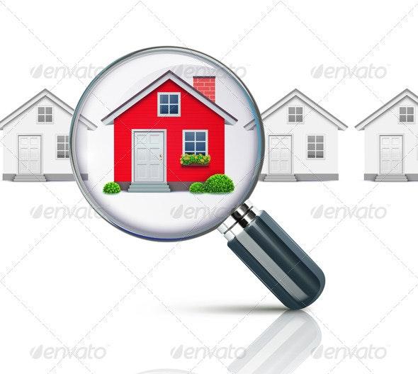 Real-estate concept - Conceptual Vectors