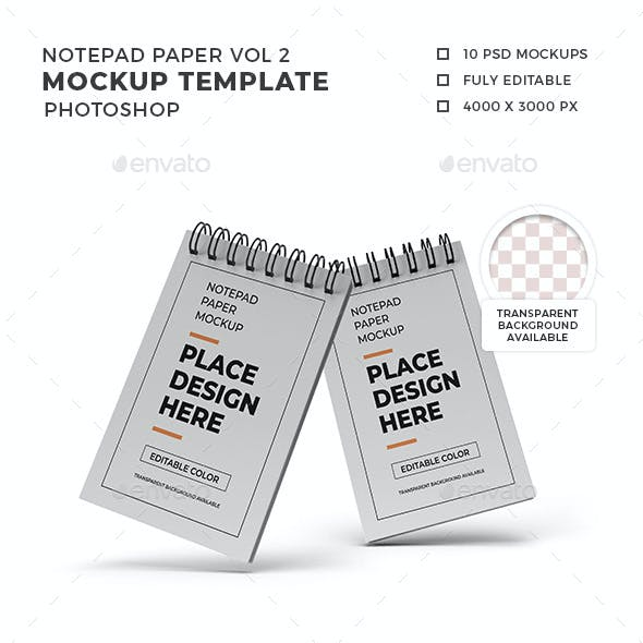 Notepad Paper Mockup Template Set Vol 2