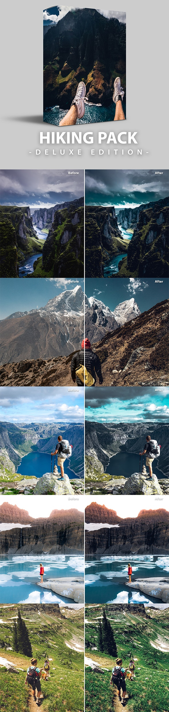 Hiking Pack | Deluxe Edition for mobile and PC - Landscape Lightroom Presets