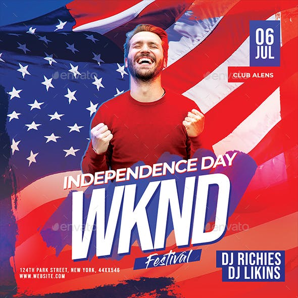 Independence Day Weekend Party Flyer