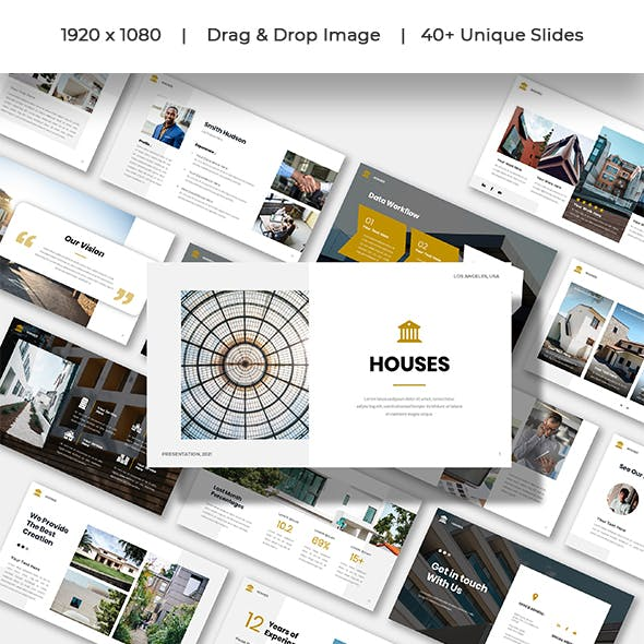 Houses - Company Business Clean Presentation Keynote Template