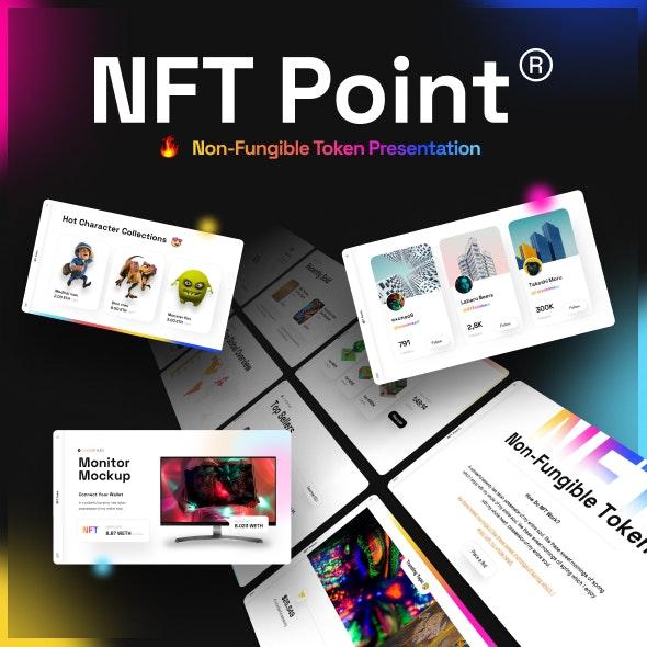 NFT Creative Digital Assets PowerPoint Template - Creative PowerPoint Templates