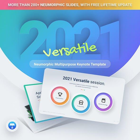 2021 Neumorphic Premium Keynote Presentation Template