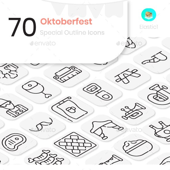 Oktoberfest Outline Icons