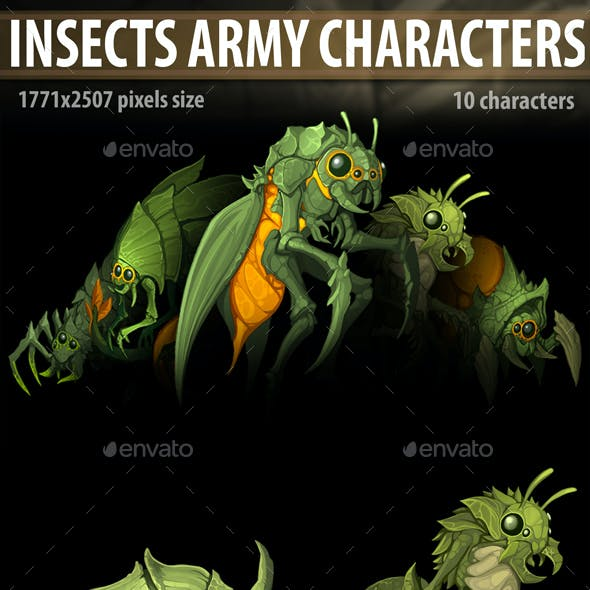 Insects Army Characters