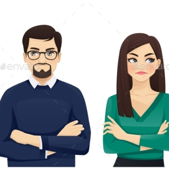 Woman and Man Angry Emotion
