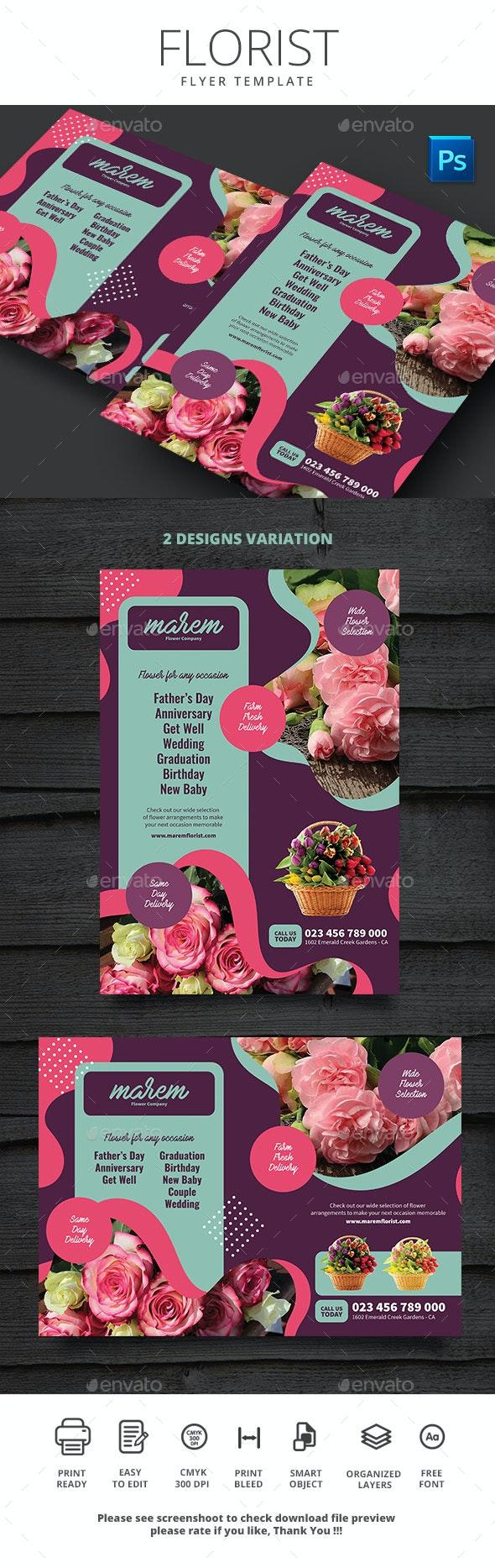Florist Flyer Template - Print Templates
