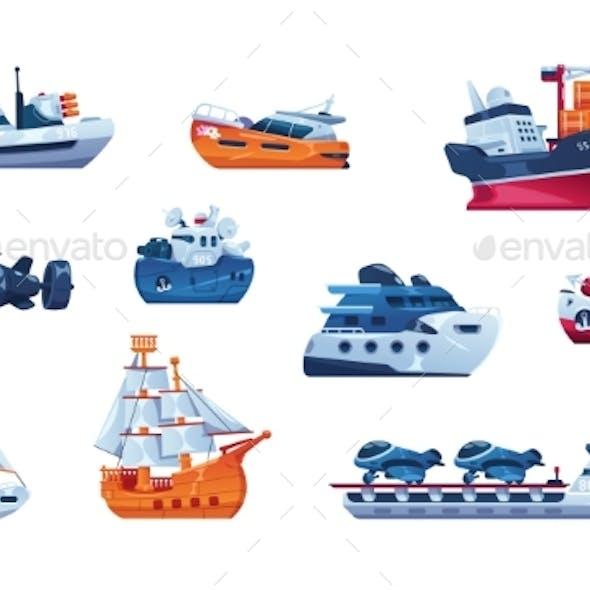 Cartoon Boats