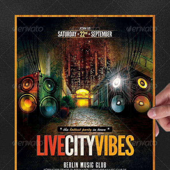 Live City Vibes Poster/Flyer