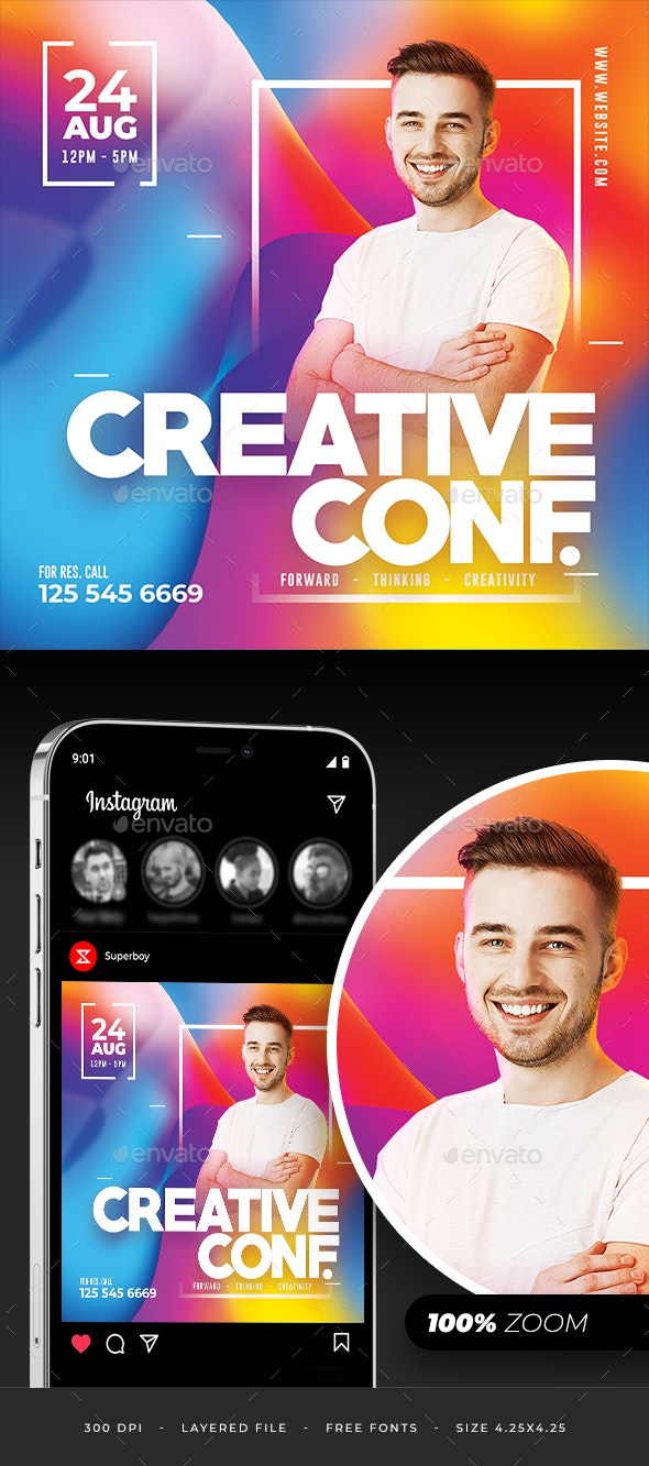 Creative Conference Flyer - Corporate Flyers