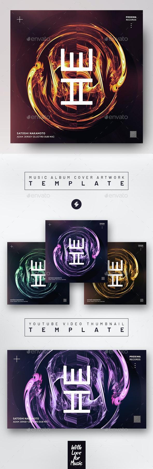 Electro Flame – Music Album Cover Artwork Template - Miscellaneous Social Media