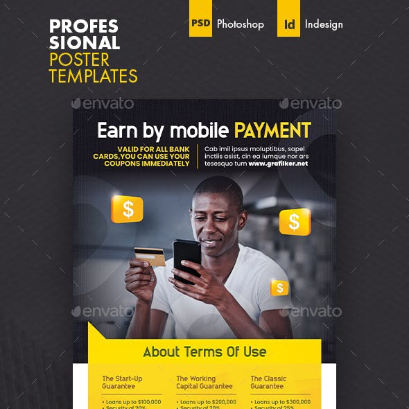 Mobile Payment Poster Templates