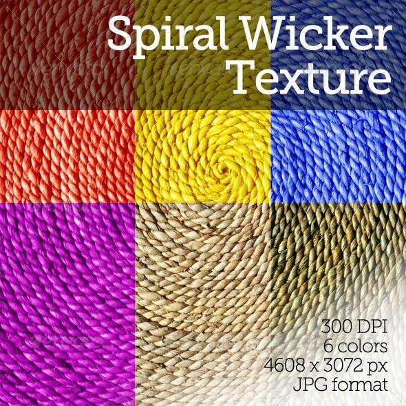 Spiral Wicker Texture