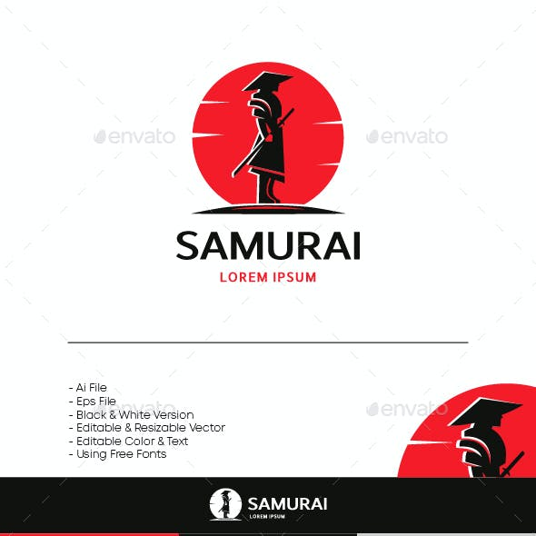Samurai Logo - SILHOUETTE STYLE